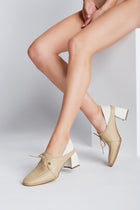 Focus heeled loafers in arequipe/ivory leather