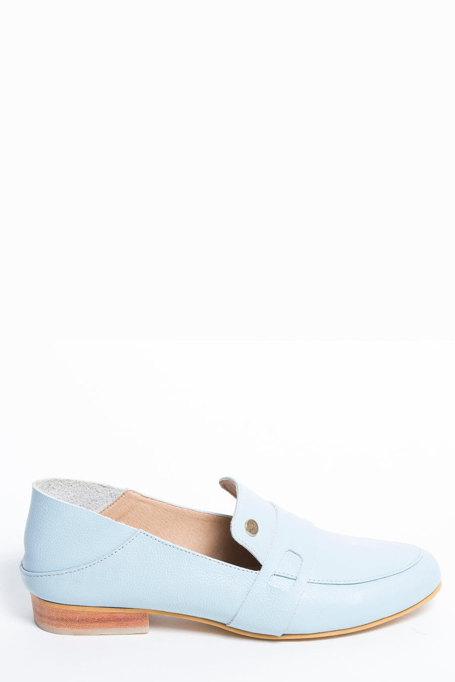 Lis loafer in soft blue leather