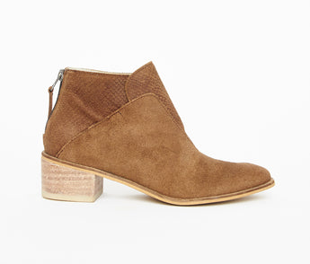 Tayrona - chocolate almond suede leather