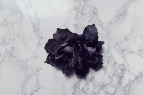 Handmade flower velvet made in France by Lily Griffiths.