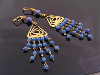 Deal of the Month - Chandelier Earrings with Sodalite and Blue Aventurine - SOLD