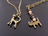 Bronze Necklaces with cute Cat Charms