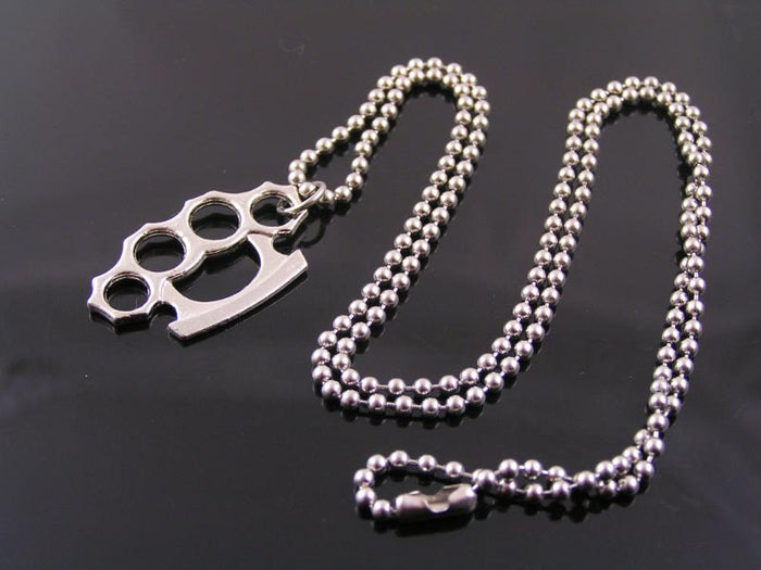 Fun Necklace with Knuckle Duster Pendant