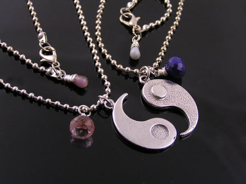 Matching Couple Necklace, Yin and Yang