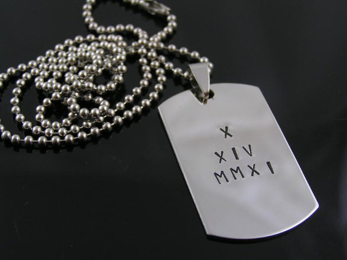 Personalized Dog Tag Necklace, Stainless Steel