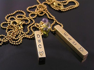 Personalized Matching Couple Necklaces, 2 Necklaces and Engraving Included