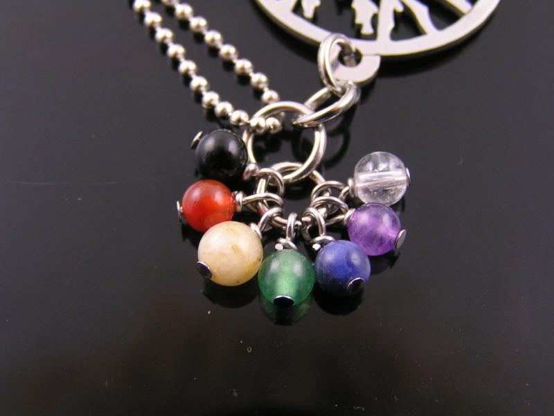 Tree of Life Necklace with Chakra Gemstones