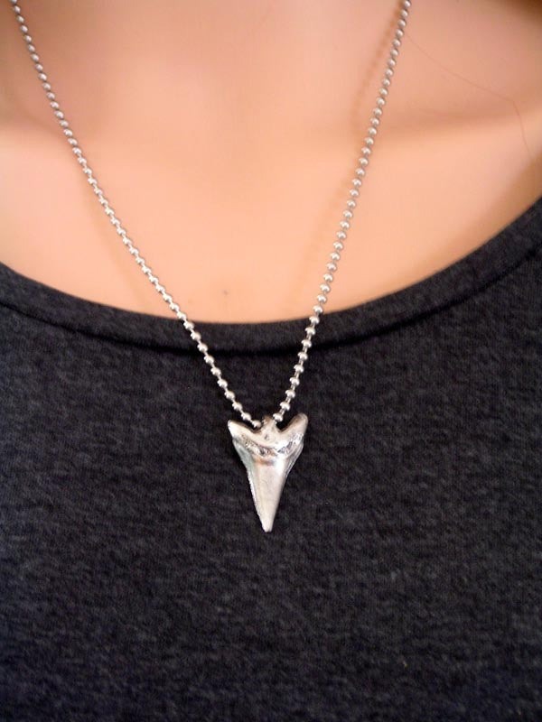 Shark Tooth Necklace, Surf Jewelry