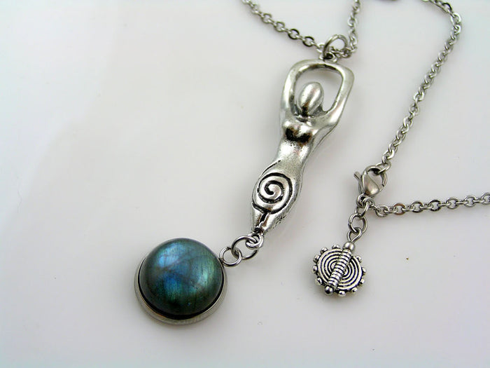 Goddess Necklace with Labradorite
