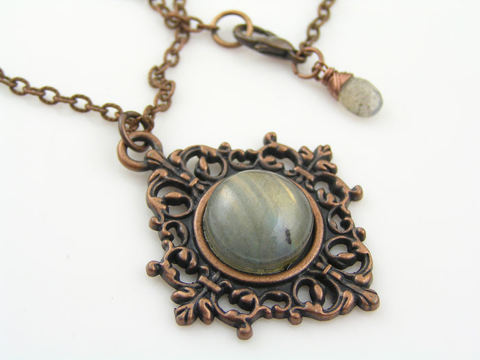 Labradorite Antique Copper Necklace