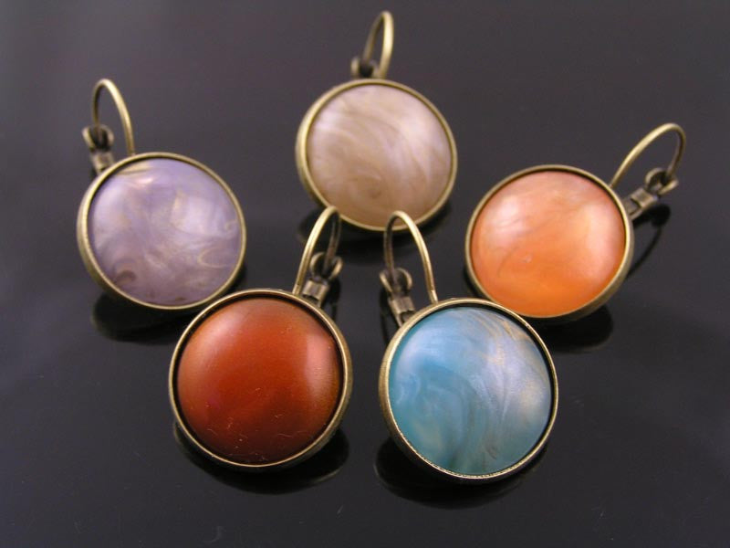 Large Cat's Eye Cabochon Earrings