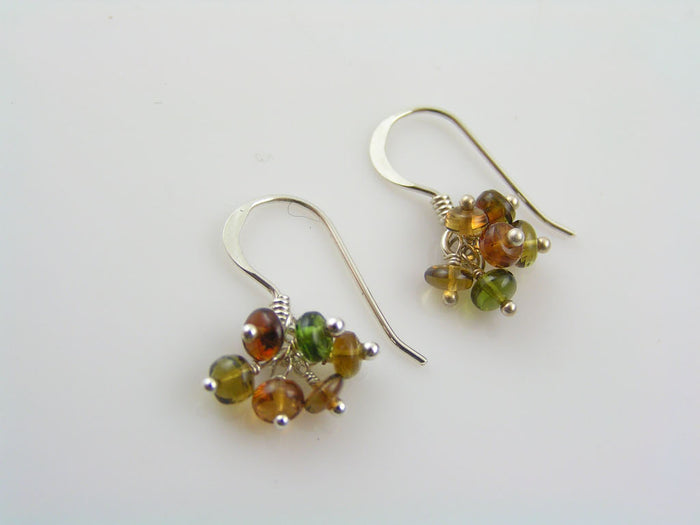 Tourmaline Earrings in Sterling Silver