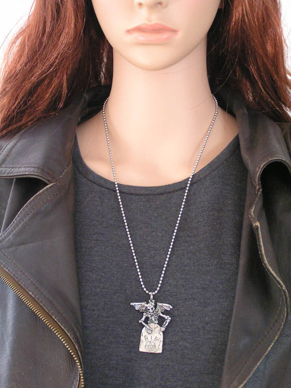 Winged Skeleton Necklace, Australian Made