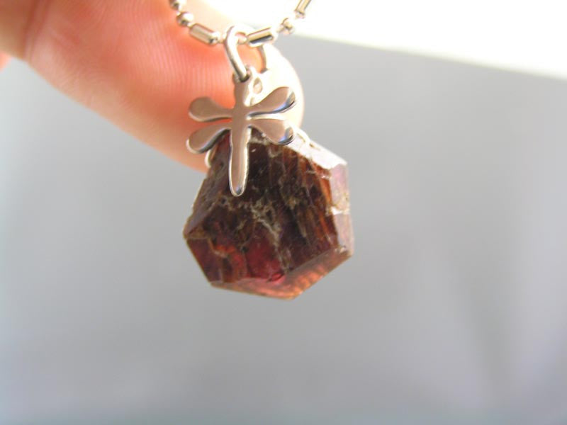 Garnet and Dragonfly Necklace
