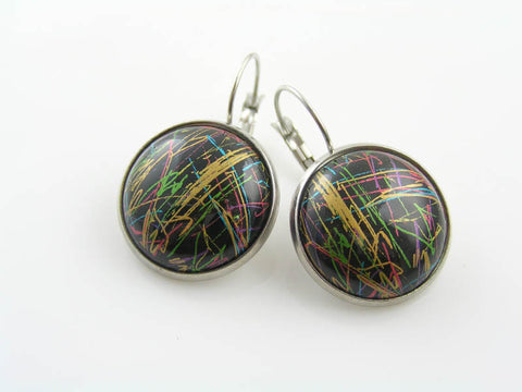 Abstract Cabochon Earrings