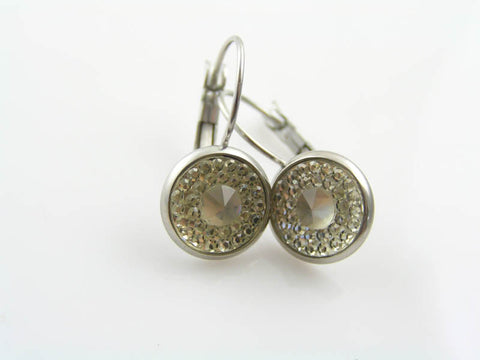 Gorgeous Vintage Cabochon Earrings
