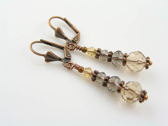Smokey Crystal Earrings