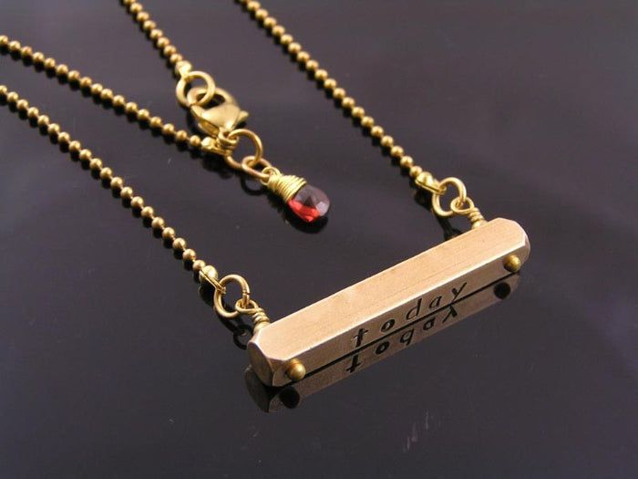 Personalised Necklace: Today, Tomorrow, Forever