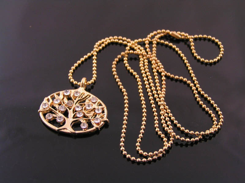 Tree of Life Necklace in Pale Rose Gold