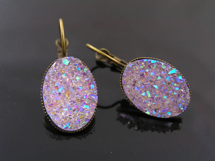 Sparkly Cabochon Earrings