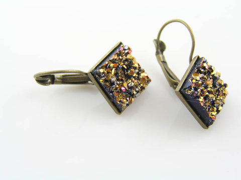 Colourful, Sparkling Druzy Earrings