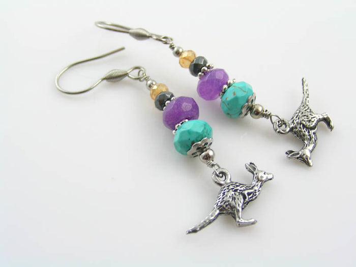 Kangaroo Charm Earrings