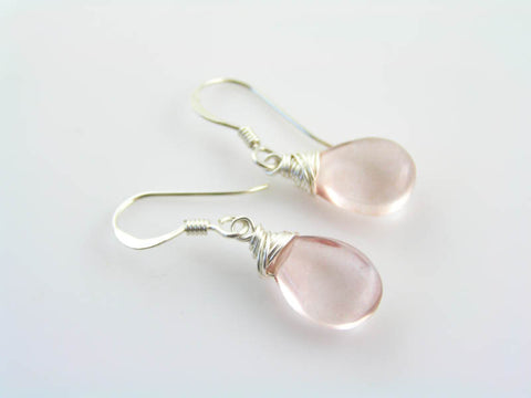 Mystic Quartz Earrings, Sterling Ear Wires