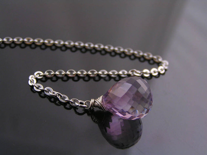 Amethyst Lariat, Y Necklace
