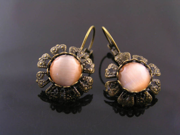 Ornate Apricot Earrings