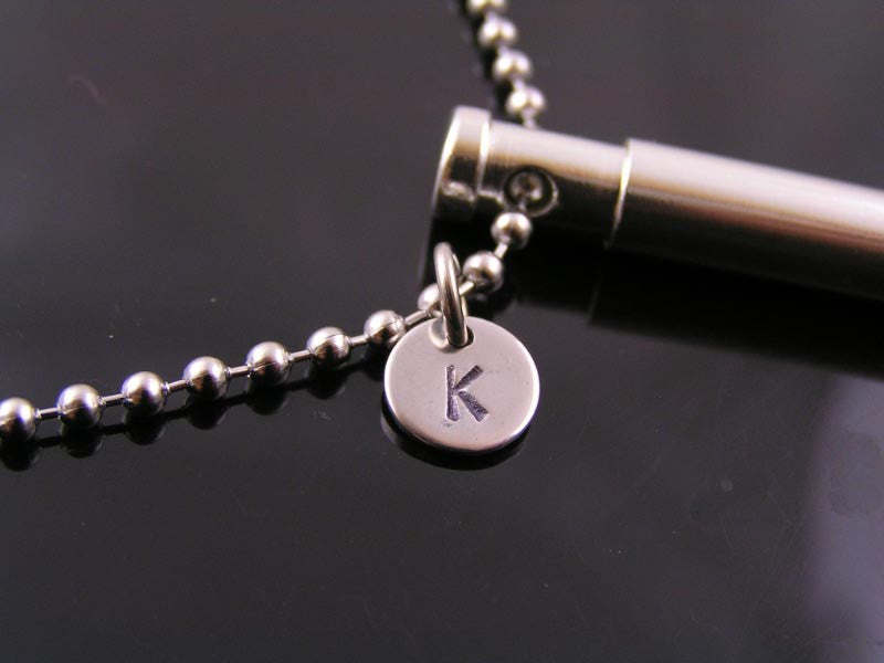 Whistle Necklace, Working, Customized with Initial