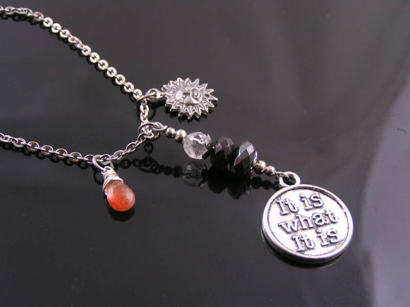 It is what it is - Pragmatic Necklace with Supporting Gemstones
