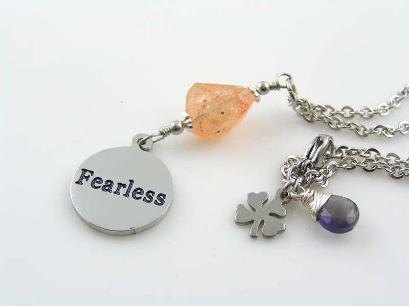 Fearless Necklace with Sunstone