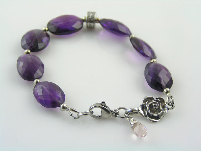 Beaded Bracelet with Amethyst