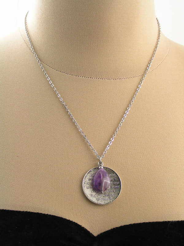 Traveler's Prayer Necklace with Cape Amethyst