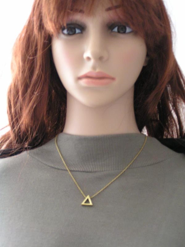 Minimalistic Triangle Necklace