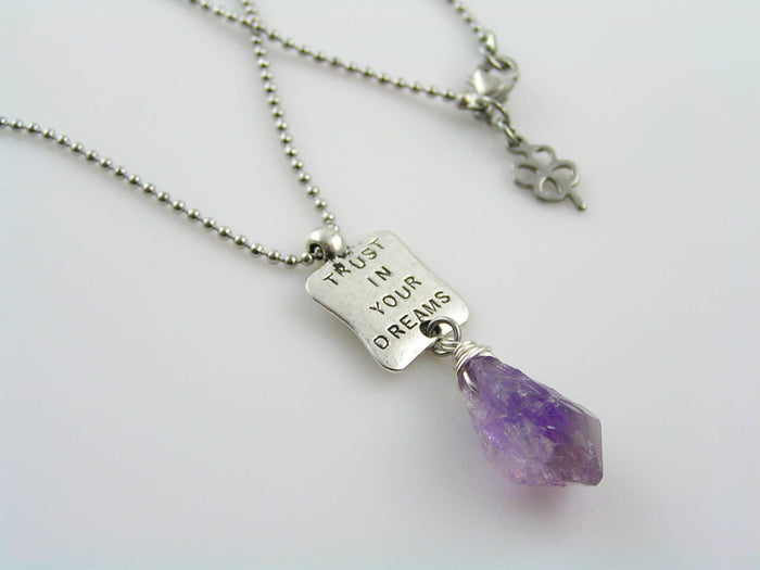 Inspirational Necklace, 'Trust in your Dreams'