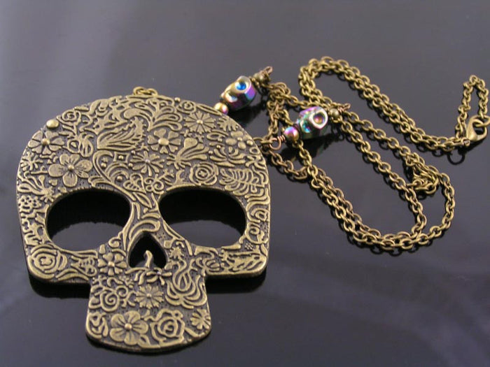 Extra Large Skull Necklace