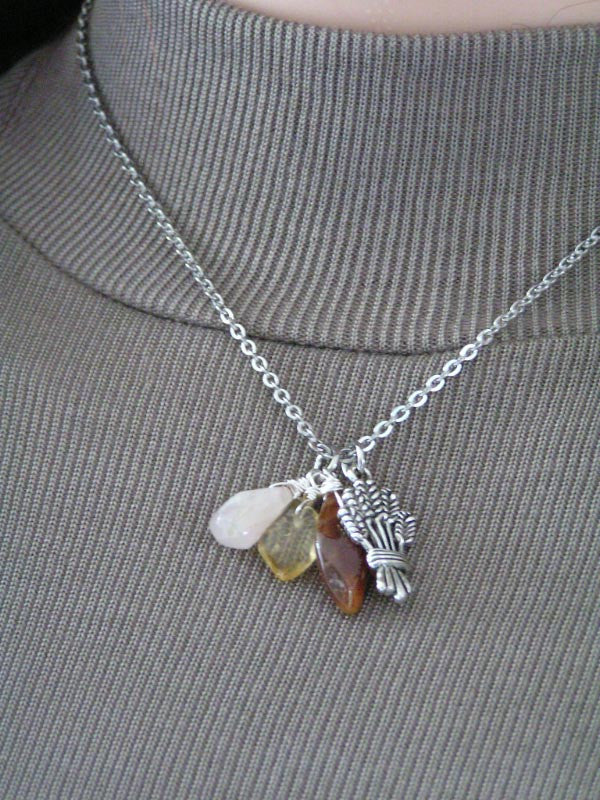 Thanksgiving Necklace, Harvest Necklace