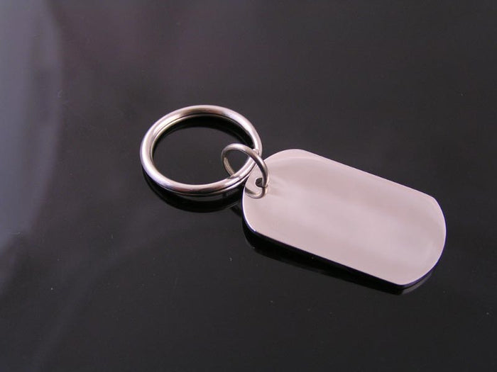 Stainless Steel Dog Tag Key Ring or Necklace