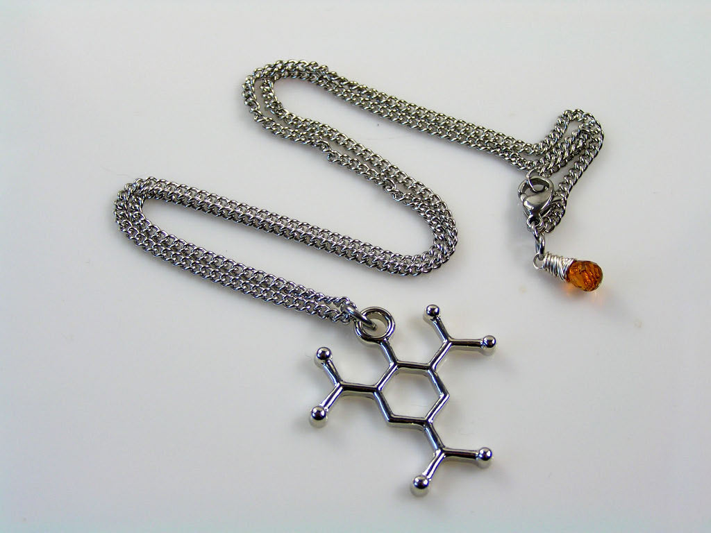TNT Molecule Necklace with Madeira Citrine