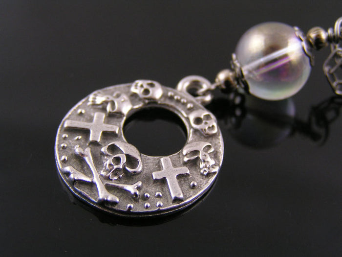 Crystal Ball Necklace with Gothic Pendant