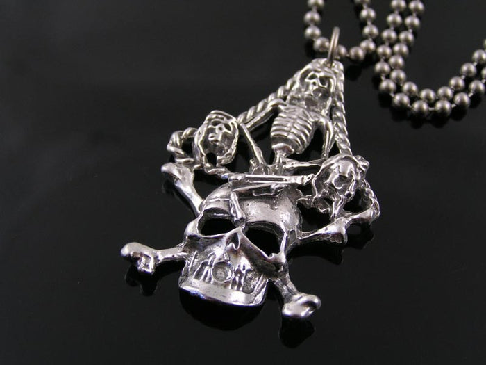Large Skull and Skeleton Necklace
