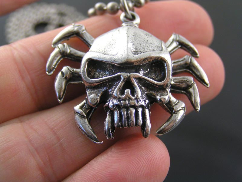 Spider Skull Necklace