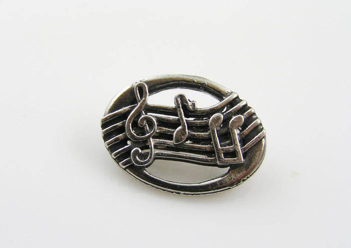 Musical Note Brooch, Gift for Musician