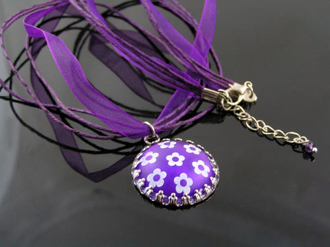 Purple Retro Necklace