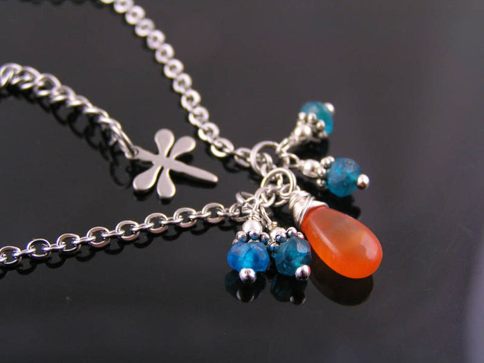 Carnelian and Apatite Necklace