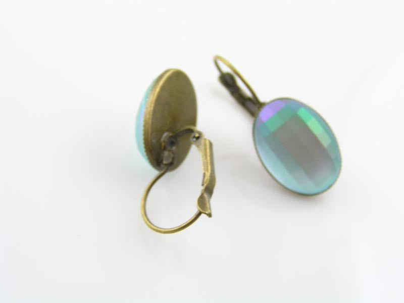Green Cabochon Earrings
