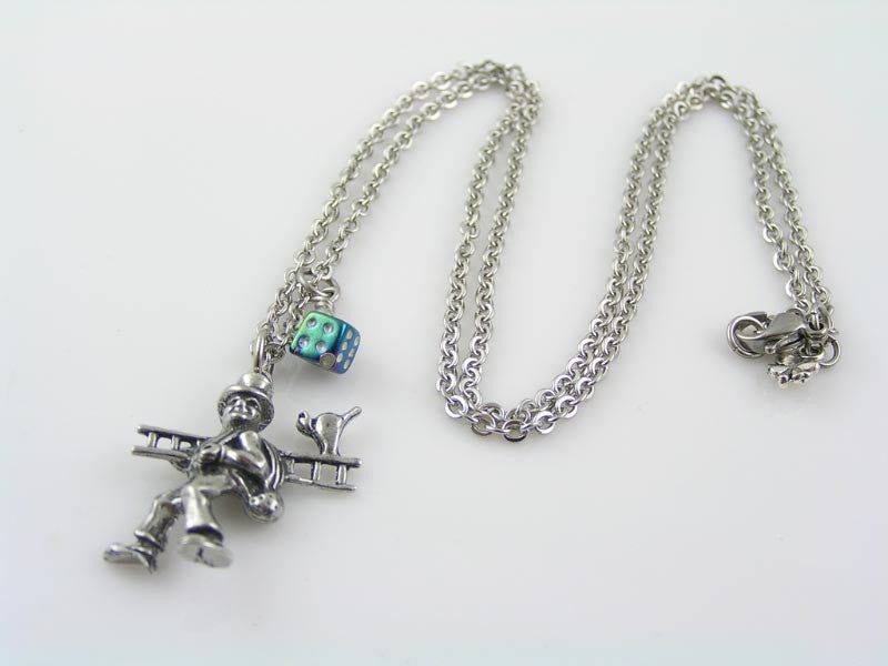Chimney Sweep Charm Good Luck Necklace