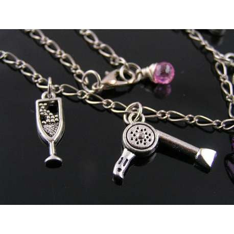 Fun Necklace with Charms, High Heel Necklace, Gift for Girlfriend