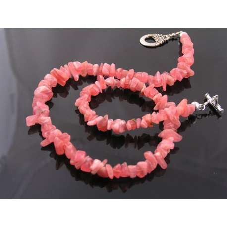 Rhodochrosite Nugget Necklace